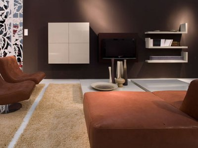 mobilier pentru un living minimalist. Black Bedroom Furniture Sets. Home Design Ideas